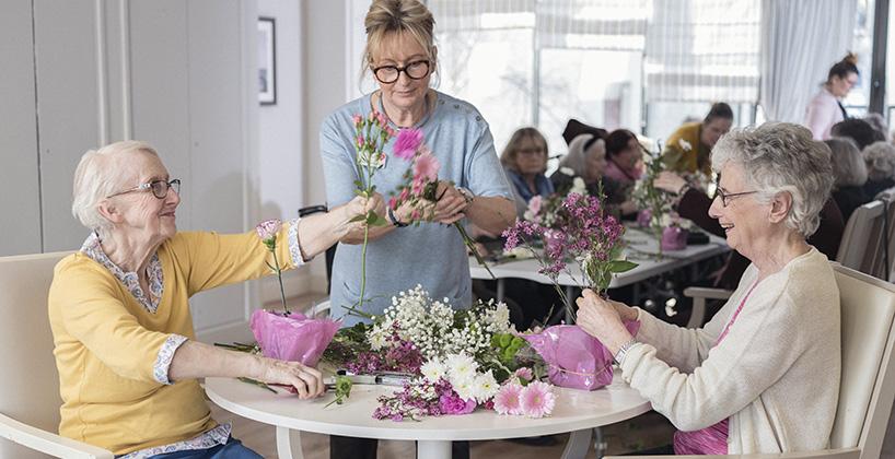 Maison de retraite atelier floral